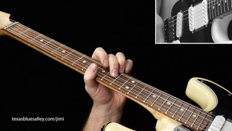 Blues Guitar Lessons - Jimi's Influence - Red House Style Solo