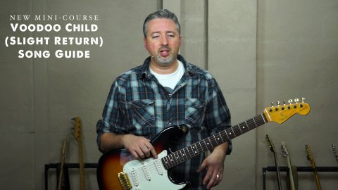 Blues Guitar Lessons - Voodoo Child (Slight Return) Song Guide - Lesson 1