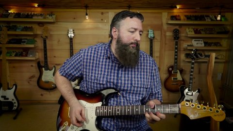 Blues Guitar Lessons - A Signature SRV Texas Flood V Chord Lick
