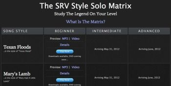 Introducing the SRV Style Solo Matrix