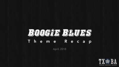 Boogie Blues Theme Recap